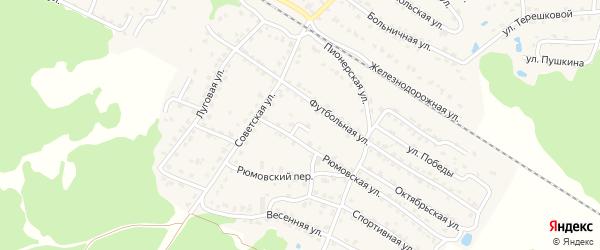 Рюмовский тупик на карте села Ржаницы с номерами домов
