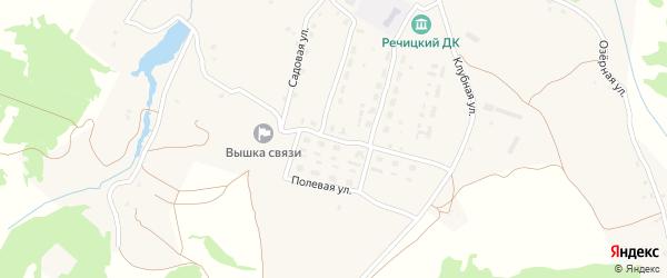 Молодежная улица на карте села Речицы с номерами домов