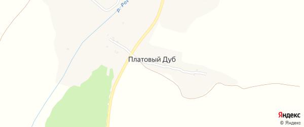 Парковая улица на карте поселка Платового Дуба с номерами домов
