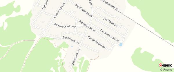 Спортивная улица на карте села Ржаницы с номерами домов