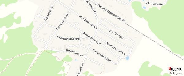 Рюмовская улица на карте села Ржаницы с номерами домов