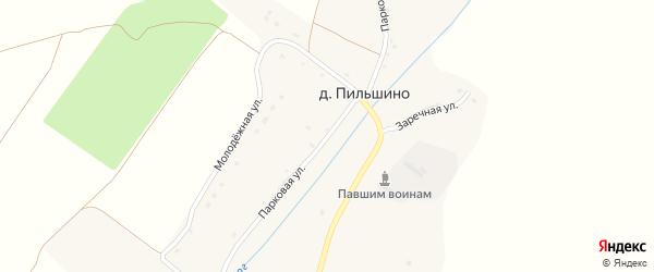 Парковая улица на карте деревни Пильшино с номерами домов