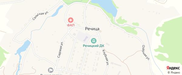 Школьная улица на карте села Речицы с номерами домов