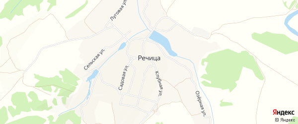 Карта села Речицы в Брянской области с улицами и номерами домов