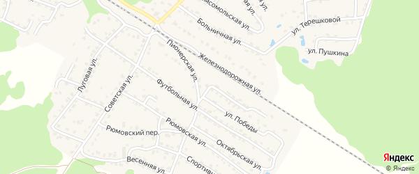 Пионерская улица на карте села Ржаницы с номерами домов