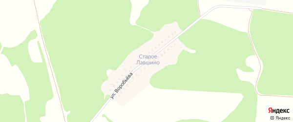Улица Воробьева на карте села Ржаницы с номерами домов