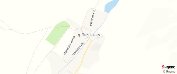 Карта деревни Пильшино в Брянской области с улицами и номерами домов