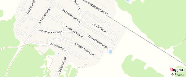 Октябрьская улица на карте села Ржаницы с номерами домов