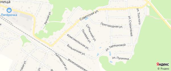 Полевая улица на карте села Ржаницы с номерами домов