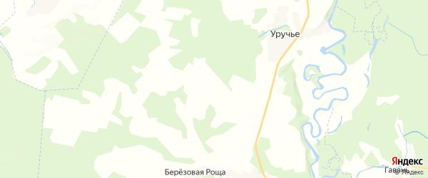 Карта территории Утынского сельского поселения Брянской области с районами, улицами и номерами домов