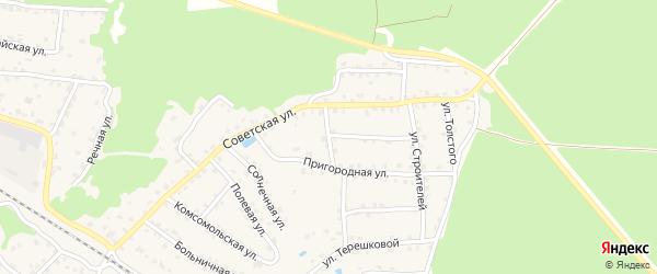 Советский переулок на карте села Ржаницы с номерами домов