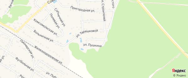 Садовая улица на карте села Ржаницы с номерами домов