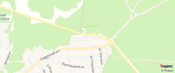 Улица Горького на карте села Ржаницы с номерами домов
