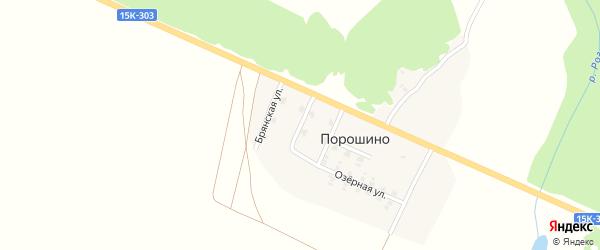 Брянская улица на карте поселка Порошино с номерами домов