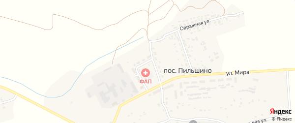 Садовая улица на карте поселка Пильшино с номерами домов