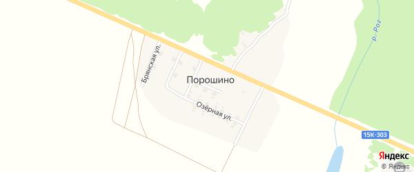 Улица Строителей на карте поселка Порошино с номерами домов