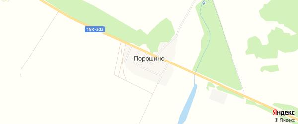 Карта поселка Порошино в Брянской области с улицами и номерами домов