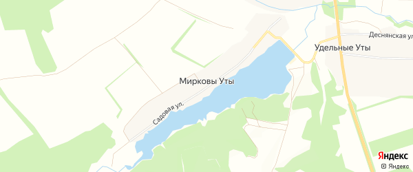 Карта села Мирковы Уты в Брянской области с улицами и номерами домов