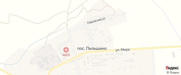 Сельская улица на карте поселка Пильшино с номерами домов
