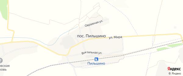 Карта поселка Пильшино в Брянской области с улицами и номерами домов