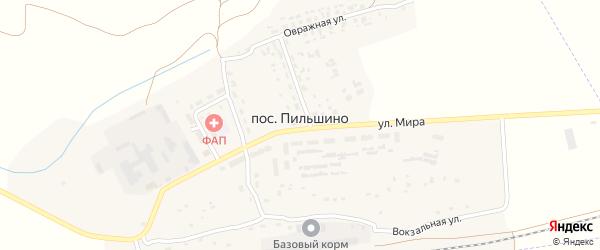 Улица Пушкина на карте поселка Пильшино с номерами домов