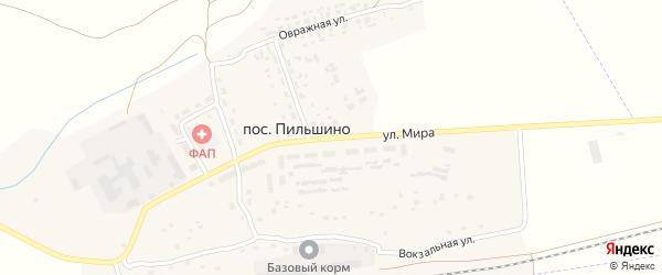 Улица Мира на карте поселка Пильшино с номерами домов