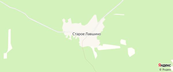 Карта деревни Старое Лавшино в Брянской области с улицами и номерами домов