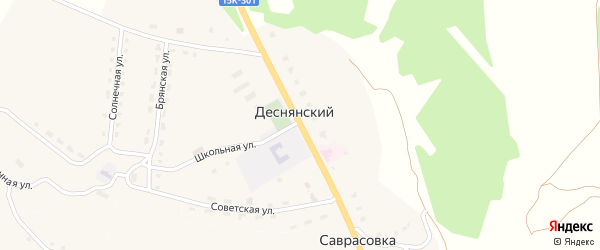 Молодежная улица на карте Деснянского поселка с номерами домов