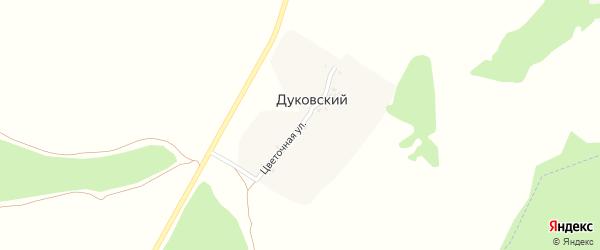 Цветочная улица на карте Дуковского поселка с номерами домов