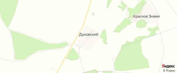 Карта Дуковского поселка в Брянской области с улицами и номерами домов