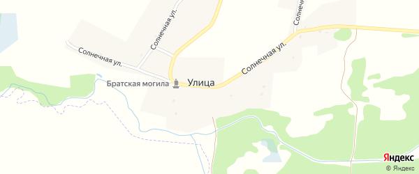 Солнечный переулок на карте деревни Улицы с номерами домов