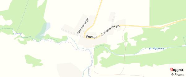 Карта деревни Улицы в Брянской области с улицами и номерами домов