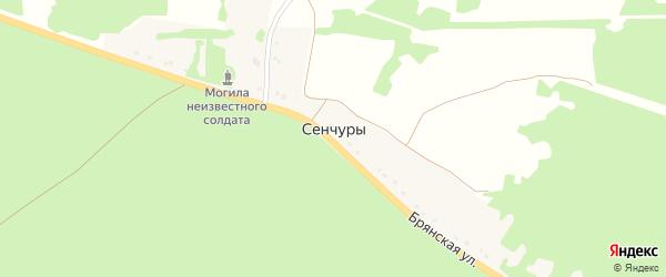 Брянский переулок на карте поселка Сенчуры с номерами домов