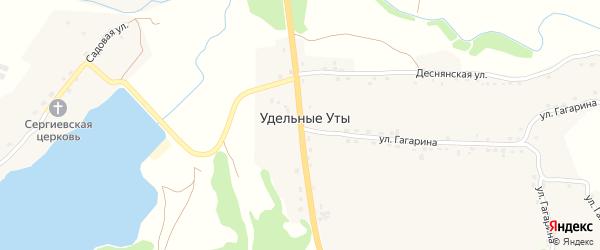 Трубчевская улица на карте села Удельные Уты с номерами домов
