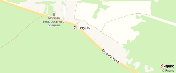 Брянская улица на карте поселка Сенчуры с номерами домов