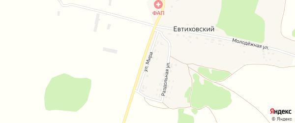 Улица Мира на карте Евтиховского поселка с номерами домов