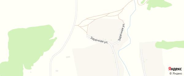 Заречная улица на карте села Уручья с номерами домов