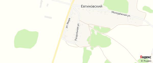 Раздольная улица на карте Евтиховского поселка с номерами домов