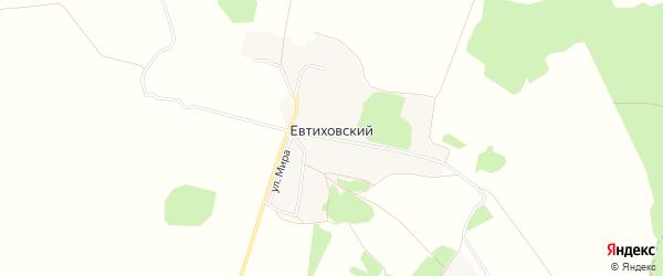 Карта Евтиховского поселка в Брянской области с улицами и номерами домов