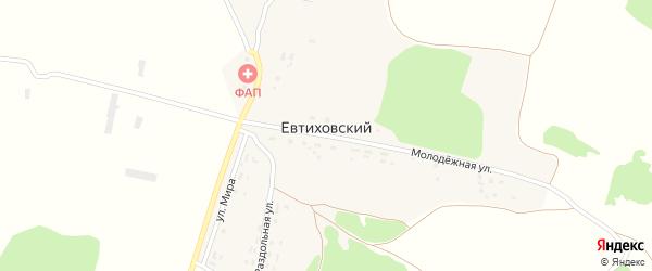 Молодежная улица на карте Евтиховского поселка с номерами домов