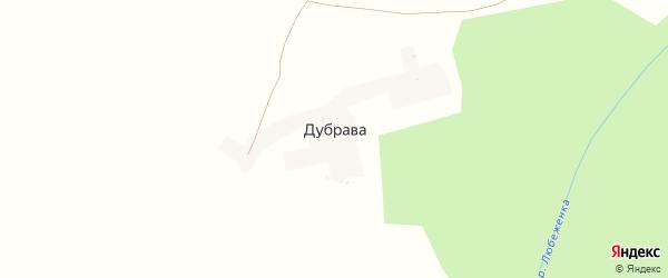 Садовая улица на карте поселка Дубравы с номерами домов