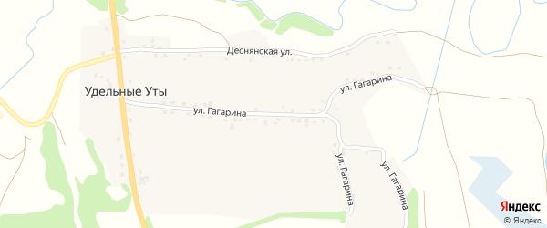 Улица Гагарина на карте села Удельные Уты с номерами домов