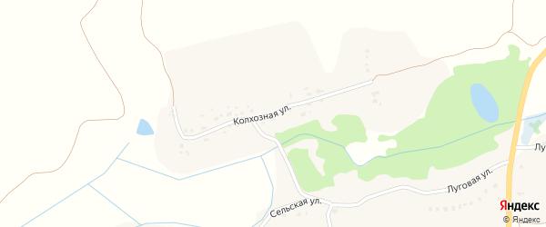 Колхозная улица на карте села Госомы с номерами домов