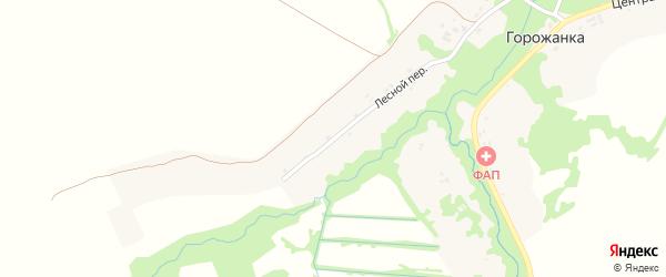 Лесной переулок на карте села Горожанки с номерами домов