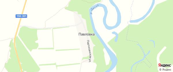 Карта деревни Павловки в Брянской области с улицами и номерами домов