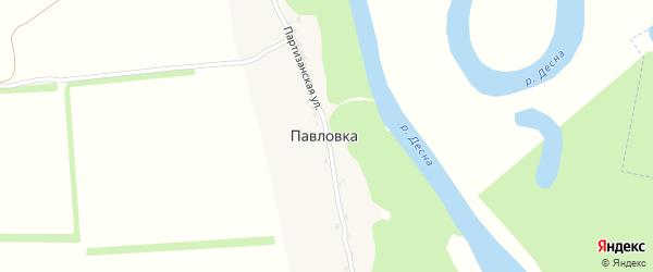 Партизанская улица на карте деревни Павловки с номерами домов