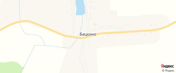 Приозерная улица на карте села Бацкино с номерами домов