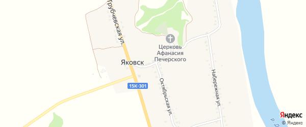 Садовая улица на карте деревни Яковска с номерами домов
