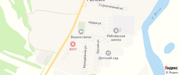 Зеленая улица на карте села Рябчевска с номерами домов