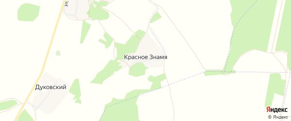 Карта поселка Красного Знамени в Брянской области с улицами и номерами домов
